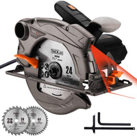 "TACKLIFE 7-1/4"" Classic Circular Saw with Laser, 2 Blades Via Amazon"