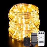 66ft 200LED Rope Fairy Lights with Remote Control Via Amazon