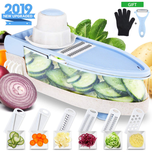 Mandoline Slicer with Cut-Resistant Gloves Via Amazon SALE $8.49 Shipped! (Reg $18.99)