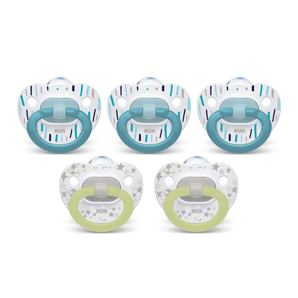 NUK Orthodontic Pacifiers, 0-6 Months, 5-Pack Via Amazon