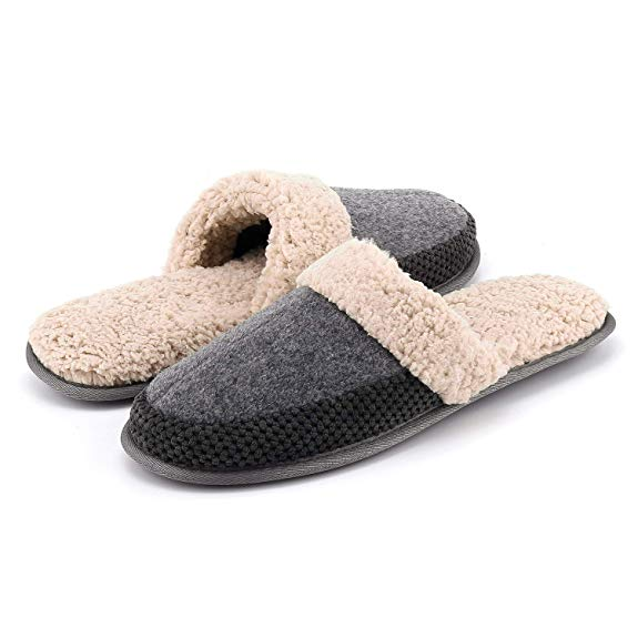Memory Foam Slippers for Men Via Amazon