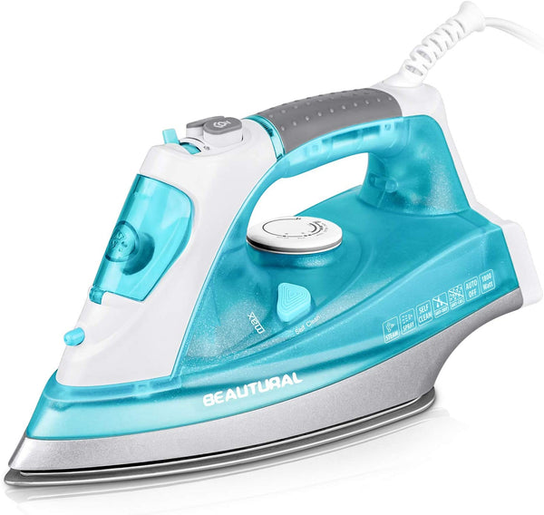 1800 Watt Steam Iron with Precision Thermostat Dial, 3-Way Auto-Off, Self-Cleaning, Anti-Drip Via Amazon