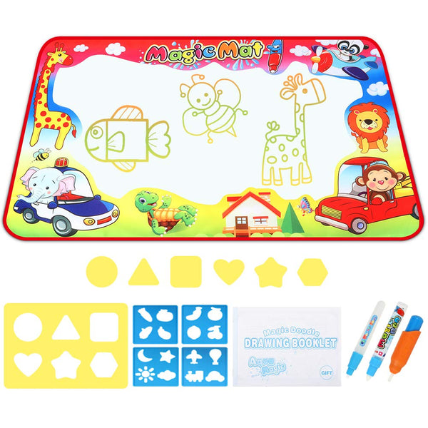 33.5″ X 22″ Large Aqua Doodle Mat Via Amazon