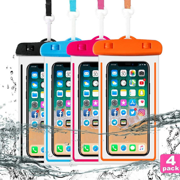 4 Pack Universal Waterproof Case Via Amazon ONLY $7.99 Shipped! (Reg $15.99)