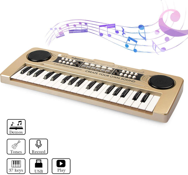37 Keys Kids Piano Portable Electronic Keyboard  Via Amazon