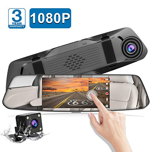 "Chortau 5"" Mirror Touch Screen Full HD 1080p Dual Dash Cam with Loop Recording and Parking Monitor Via Amazon ONLY $34.79 Shipped! (Reg $60)"