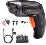 Cordless Screwdriver with 33Pcs Free Screw Bits Set Via Amazon