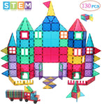 130-Pieces Manve Magnetic Building Blocks Tiles Toy Via Amazon
