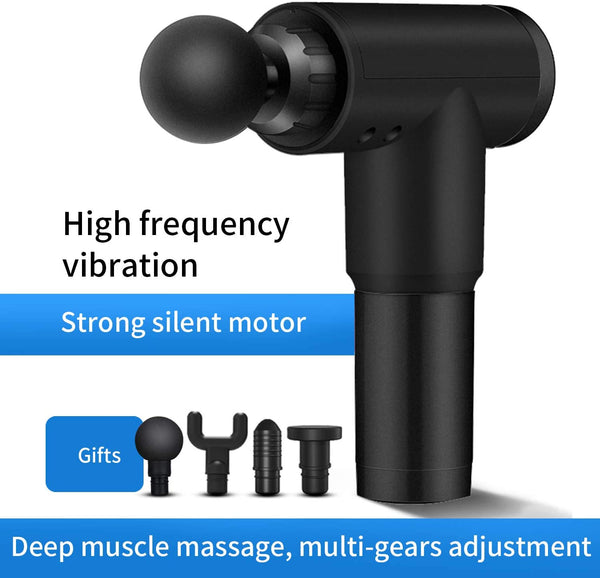 5 Star Deep Tissue Muscle Massage Gun With 4 Massage Heads, 6 Speeds Via Amazon