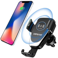Wireless Car Charger with Car Mount Phone Holder Fast Charging Via Amazon