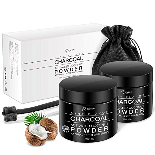 Teeth Whitening Charcoal Powder (2 Pack) Via Amazon