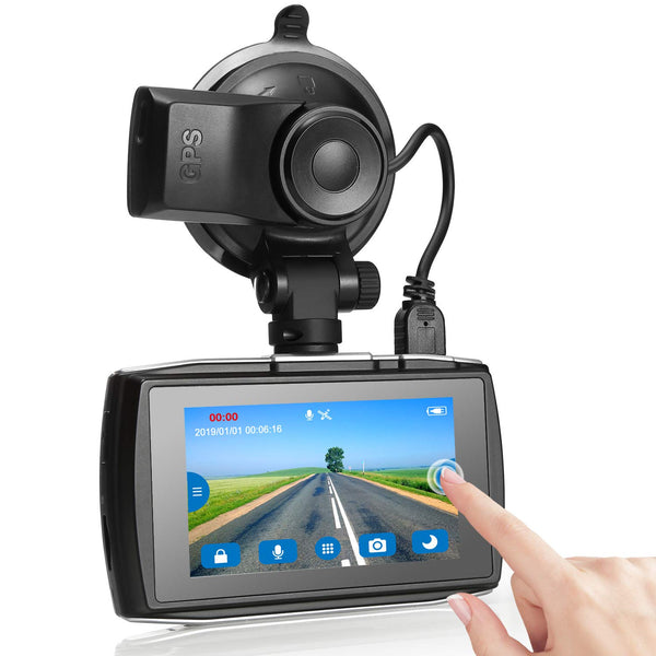 "3"" Touch Screen Full HD 1080P Dash Camera Via Amazon ONLY $49.99 Shipped! (Reg $100)"