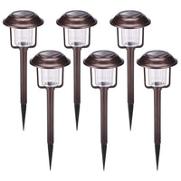 6 Pack Solar Lights Outdoor Via Amazon