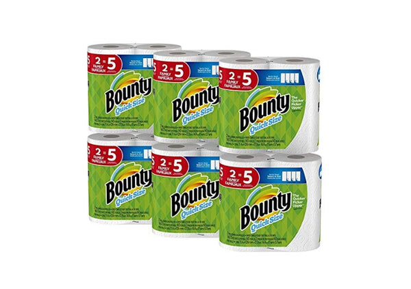 12 Count Family Rolls Bounty Quick-Size Paper Towels Via Amazon ONLY $25.92 Shipped! (Reg $30.44)