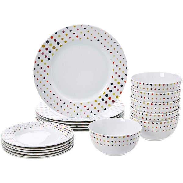 18 Pcs Dinnerware Set – Dots Via Amazon SALE $19.99 Shipped! (Reg $39.99)