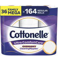 Targeted: 36-Count Family Mega Rolls Cottonelle Ultra ComfortCare Toilet Paper Via Amazon