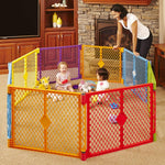 Toddleroo by North States Superyard Colorplay 8 Panel Baby Play Yard via Amazon