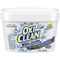 3-Pack OxiClean White Revive Laundry Whitener + Stain Remover, 3 lbs. Via Amazon