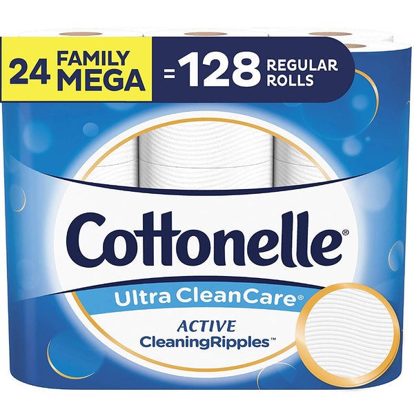 Cottonelle Ultra CleanCare Toilet Paper 24 Family Mega Rolls Via Amazon