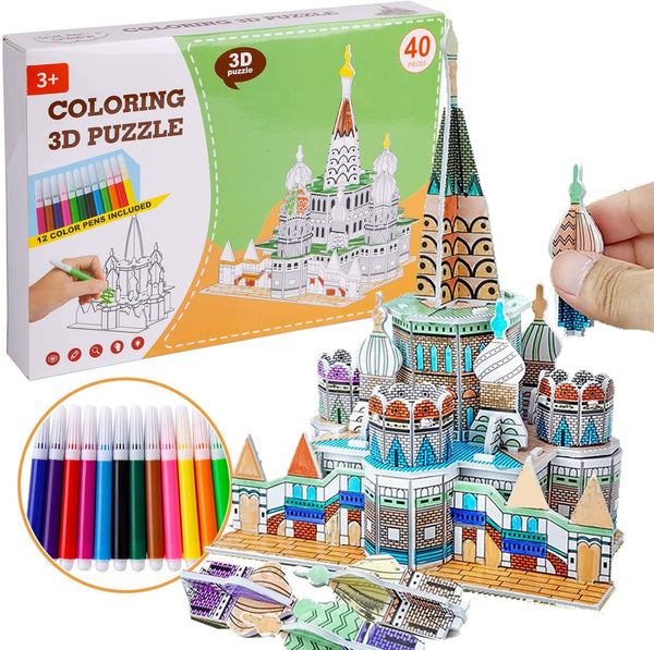 All-in-One Kids Craft Painting Kit-Build Your Own Castle Via Amazon