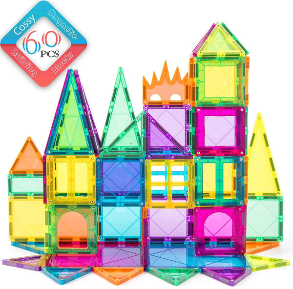 60 Pcs 3D Magnetic Building Blocks Set Via Amazon