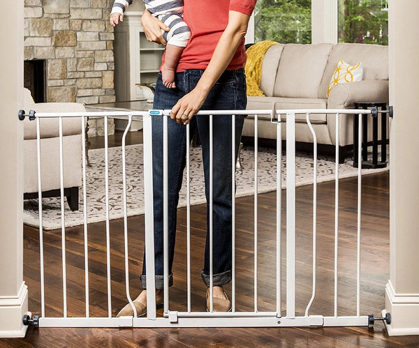 47-Inch Super Wide Walk Thru Baby Gate Via Amazon