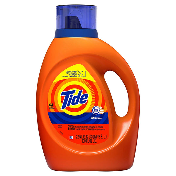 100oz Tide HE Turbo Clean Liquid Laundry Detergent Via Amazon