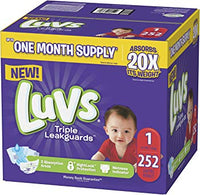Targeted: Luvs Ultra Leakguards Disposable Baby Diapers (Sizes 1 to 6) Via Amazon from ONLY $13.01