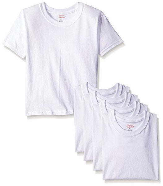 Hanes Boys' Toddler 5-Pack Crew Undershirts Via Amazon