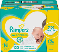 Diapers Newborn / Size 0 (< 10 lb), 120 Count - Pampers Via Amazon
