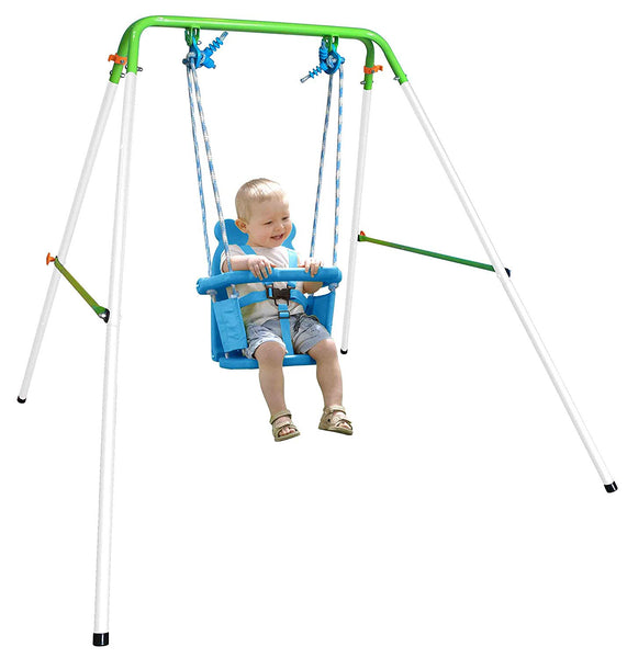 Baby Indoor/Outdoor Swing Set with Safety Harness Via Amazon