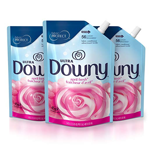 3 Pack Downy Ultra April Fresh Liquid Fabric Conditioner Smart Pouch Via Amazon