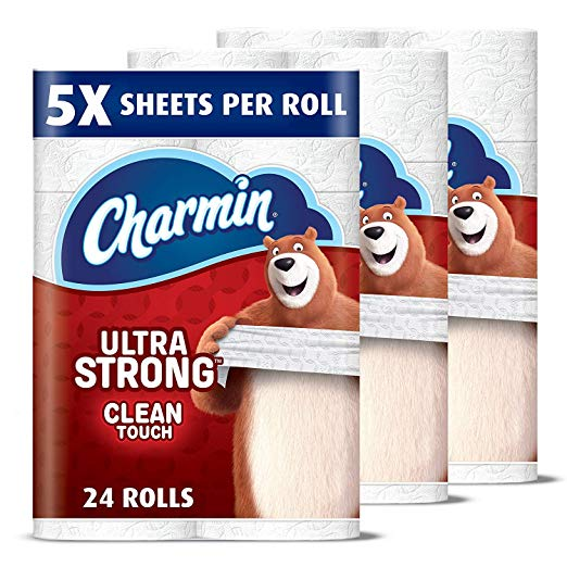 24-Pack Charmin Ultra Strong Clean Touch Toilet Paper Family Mega Rolls Via Amazon