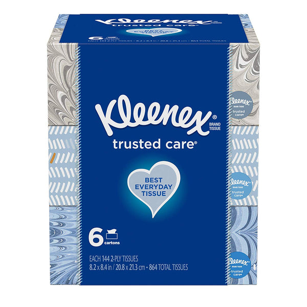 12 Kleenex Trusted Care Everyday Facial Tissues, 144 Tissues per Boxe Via Amazon