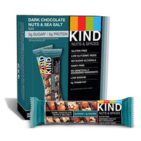 12-Count KIND Bars Dark Chocolate Nuts & Sea Salt, 1.4oz Via Amazon