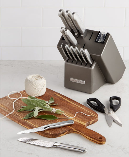 KitchenAid KKFSS16CS Architect Series 16-Pc. Cutlery Set Via Mayc's SALE $59.99 + Free Store Pickup! (Reg $169.99)
