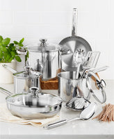 Stainless Steel 13-Pc. Cookware Set Via Macys