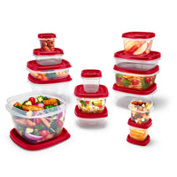 Rubbermaid Easy Find Vented Lids Food Storage Containers, 24-Piece Set Via Walmart