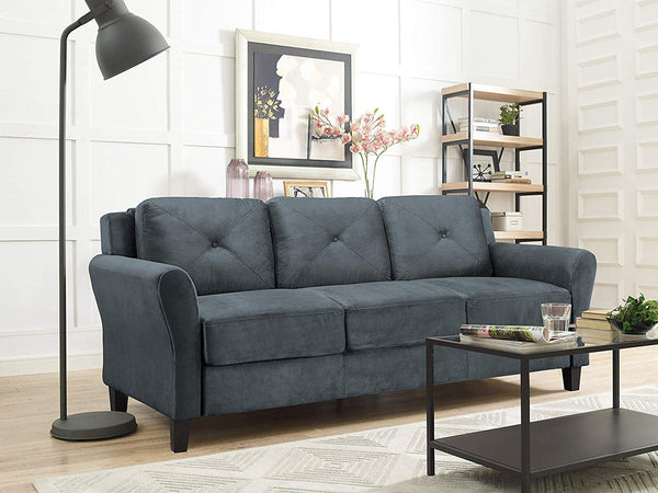 "Lifestyle Solutions Taryn 78.75"" Curved-Arm Sofa Via Amazon ONLY $206.89 Shipped! (Reg $500)"