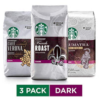 Starbucks Dark Roast Whole Bean Coffee Variety Pack, Three 12-oz. Bags Via Amazon SALE $16.54 Shipped! (Reg $28)