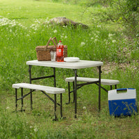 "Lifetime 42"" Portable Folding Table and Bench Set Via Amazon ONLY $67.74 Shipped! (Reg $85)"