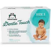 Save 55% off Mama Bear Amazon Brand Gentle Touch Diapers (Newborn Thru Size 6) Via Amazon