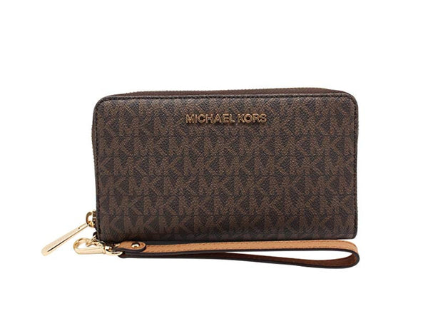 Michael Kors Jet Set Travel Large Flat Multifunction Phone Case Wristlet Via Amazon