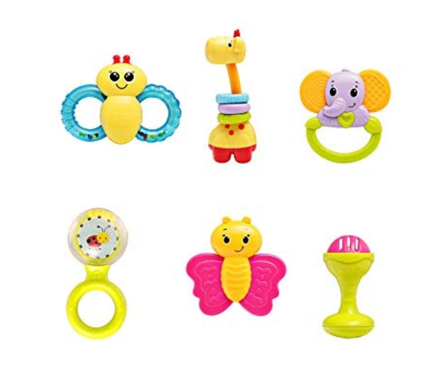 Baby Rattle Teether Toy 6 Pieces Via Amazon