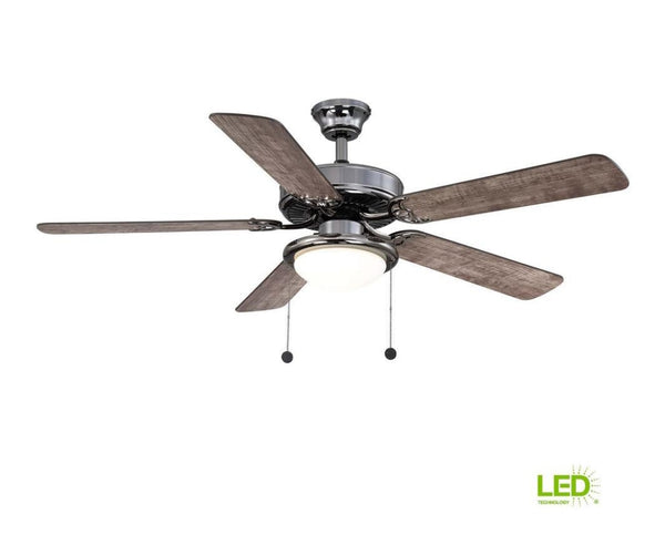 "Trice 52"" 5-Blade LED Ceiling Fans (Gunmetal, Bronze or Black) Via Home Depot SALE $49.97 (Reg $64.97)"