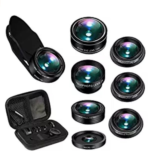 7 in 1 Phone Lens for iPhone, Samsung, Most Smartphone Via Amazon SALE $6 Shipped! (Reg $19.99)