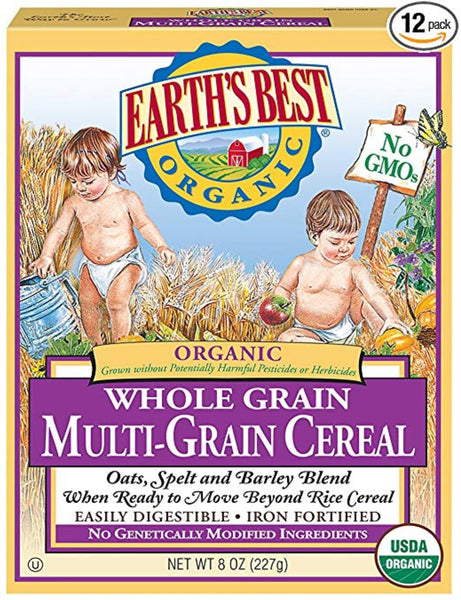 Earth's Best Organic Infant Cereal, Whole Multi-Grain, 8 oz. Box (Pack of 12) Via Amazon SALE $11.90 Shipped! (Reg $42.24)