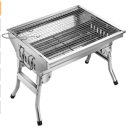 Stainless Steel BBQ Charcoal Grill Via Amazon SALE $29.99 Shipped! (Reg $49.99)