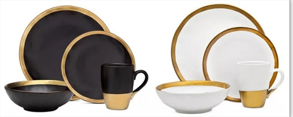 Godinger Golden Onyx or Terre D'Or 4-Pc. Place Setting Via Macy's SALE $27.99 (Reg $70)