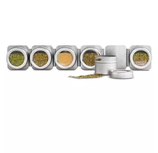 Martha Stewart Collection Magnetic Tin Spice Rack Via Macy's SALE $15.99 (Reg $34.00)